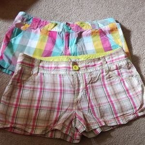2 pairs of womans size 7 mini shorts